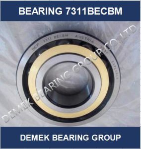 Angular Contact Ball Bearing 7311 Becbm with Brass Cage pictures & photos