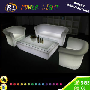 Outdoor Furniture Illuminated Color Changing LED Plastic Sofa pictures & photos