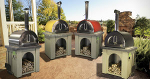 Color Outdoor Wood Burning Stainless Steel Pizza Oven pictures & photos