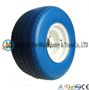Golf Solid PU Wheel with Spoke Color (18*8.50-8) pictures & photos