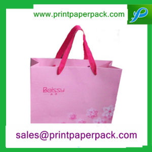 Eco Friendly Custom Printed Purple Paper Gift Bag pictures & photos