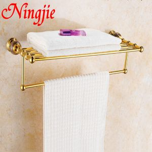 Sanitary Ware Golden Color Bathroom Towel Rack (8116) pictures & photos