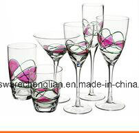 Modern Style Wine Glass with Embossed Designs (B-WG052) pictures & photos
