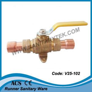 Brass Gas Ball Valve (V25-102) pictures & photos