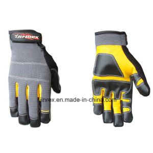 Good Quality Leather Mechanics Working Tool Safe Hand Glove pictures & photos
