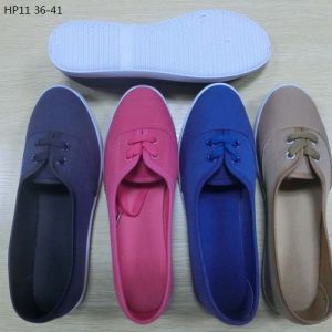 Latest Cheap Fashion Lady Casual Shoes Injection Canvas Shoes (HP11) pictures & photos