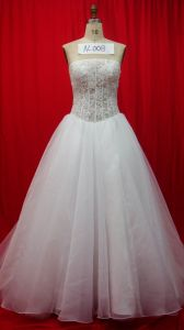 Flower A-Line Beaded Bridal Wedding Dresses (AL008) pictures & photos