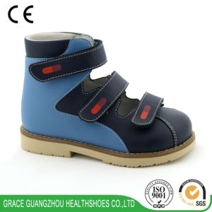 Grace Ortho Orthopedic Shoes Leather Children Health Shoes pictures & photos