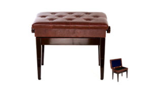 Factory Direct Sale Leather Grand Piano Bench pictures & photos
