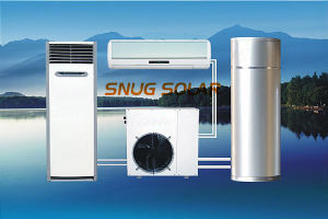 Air to Water Heat Pump Three in One Unit for Heating and Cooling and Sanitary Hot Water (8kW 12kW) High Cop Seer pictures & photos