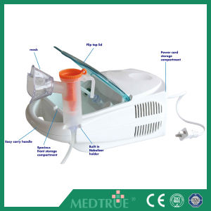 CE/ISO Approved Hot Sale Portable Medical Electric Quiet Compressor Nebulizer (MT05116103) pictures & photos
