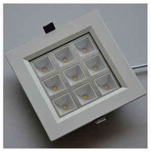 9W CE Square (Right angle) Warm White LED Ceiling Light