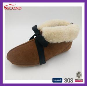 Cow Suede Upper Women Shoes Indoor Slipper