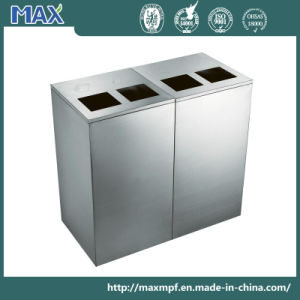 Stainless Steel 2 Compartment Waste Bin pictures & photos