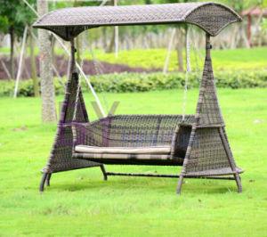 Wholesale Simple Fashionable PE Rattan Garden Leisure Swing pictures & photos