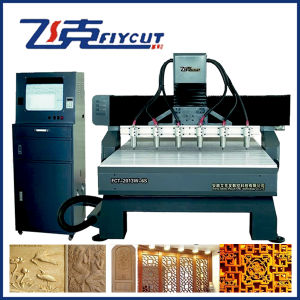 CNC Router Cutting and Engraving Machine Price with 6 Spindles pictures & photos