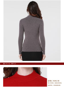 Grey Yak Wool Sweaters /Yak Cashmere Sweaters / Knitted Wool Sweaters pictures & photos
