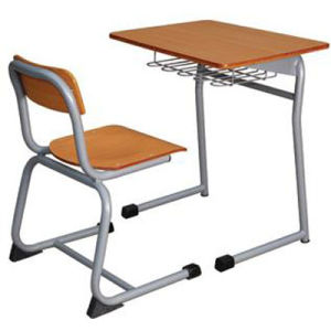 Modern Wooden School Furniture Single Student Desk and Chair (FS-3216B) pictures & photos