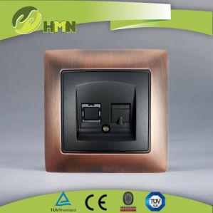 China TUV Certified EU Standard Metal Zinc Tel Socket Manufacturer pictures & photos