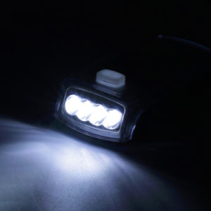 Bike 4 LED Solar Powered USB Rechargeable Bicycle Lamp Headlight Front Light pictures & photos