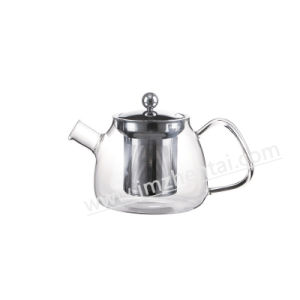 Clear Glass Teapot with Handle 800ml pictures & photos