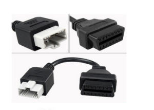 for Honda 5pin Male to 16pin OBD Obdii Female Connector pictures & photos