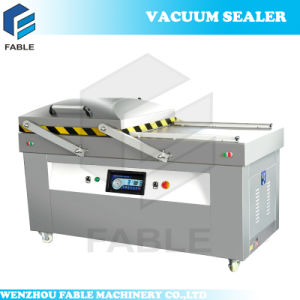 Double Chamber Automatic Vacuum Packer for Seafood (DZ-900/2SB) pictures & photos