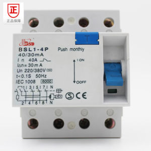 RCCB/ELCB/RCD/RCBO, with Lamp Indiactor Circuit Breaker pictures & photos