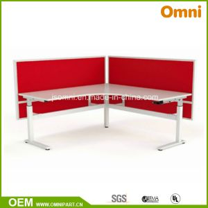L Shape Steel Height Adjustable Desk with CE Certification (OM-03-T-RA) pictures & photos