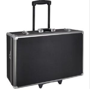 Customized Shockproof Aluminum Alloy Rolling Trolley Camera Case (with wheels) pictures & photos