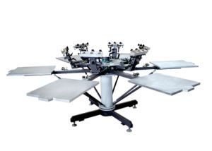 TM-R6-1 6-Color Manual Cloths Printer Usage Rotary Screen Printing Machine pictures & photos