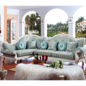 Fabric Sofa Set / Living Room Sofa / Wooden Sofa (D801)