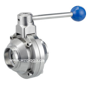 3A Sanitary Stainless Steel Welded Butterfly-Type Ball Valve pictures & photos