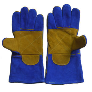 Reinforment Palm Working Welder Gloves with Kevlar pictures & photos