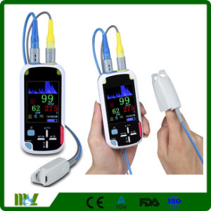 2.8 Inch LCD with Bluetooth Wireless Handheld Pulse Oximeter Mslpo-BV