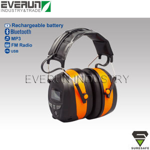 ER9230 Electronic earmuffs Blue tooth ear muffs with FM radio and MP3 pictures & photos