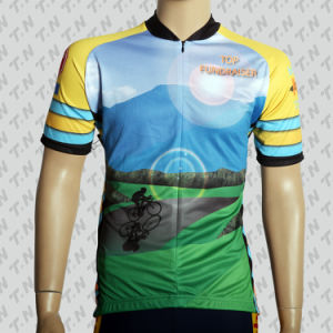 Short Sleeve Cycling Jerseys/Wear with Sublimation Print pictures & photos