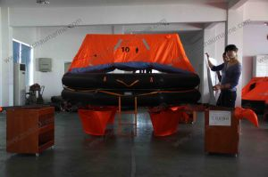 CCS Approval Throwing Inflatable Life Raft for 10 Persons pictures & photos