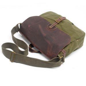 100% Cotton Canvas Messenger Man Shoulder Laptop Satchel Bag (RS -6001P) pictures & photos