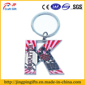 Custom Print Logo Metal Key Chain with Ring pictures & photos