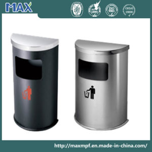 Stainless Steel Half Round Waste Bin for Hotel pictures & photos