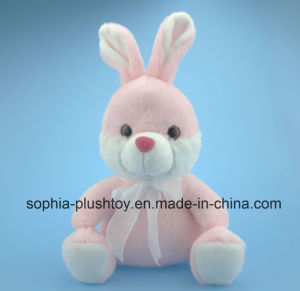 Soft Stuffed Plush Rabbit Toy in Pink Color for Children pictures & photos