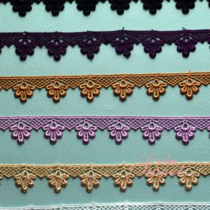 Embroidery Polyester Trimming Lace for Dress pictures & photos