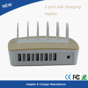 New Product Multi USB Charger 5 Port USB Charger/Power Adapter Station pictures & photos