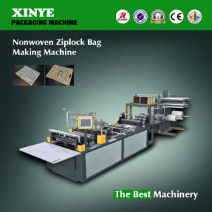 Xyz Nonwoven Zipper Bag Making Machine pictures & photos