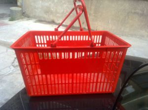PE Shopping Basket Red Color pictures & photos