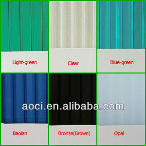 Zhejiang Aoci UV-PC (corrugated polycarbonate sheet) pictures & photos