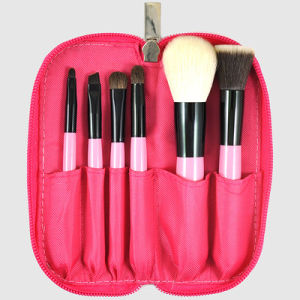 6PCS portable Beauty Cosmetic Make up Brush Set with Zipper Pouch pictures & photos
