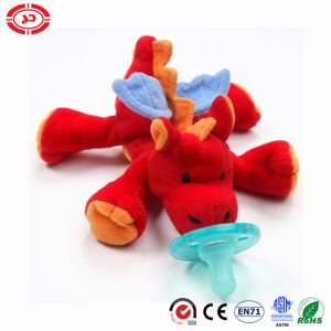 Baby Pacifier Safe CE Red Plush Soft Dragon Toy pictures & photos