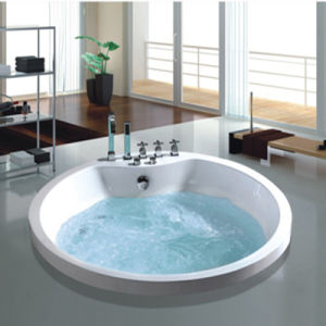 Hot Sanitary Ware SPA Round Whirlpool Hot Tub (NJ-60041) pictures & photos